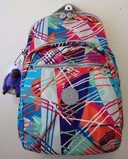 Kipling Seoul Laptop Backpack #BP3447 Color 656 Fiesta Print NWT