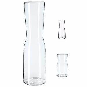 225 & Details about TIDVATTEN Clear Glass Flower Vase Various Sizes Minimalist Hand Blown IKEA