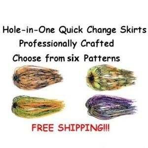 Hole-in-One-Jig-Skirts-Bass-Musky-Pike-Spinner-Jig-Quick-Change-Skirts