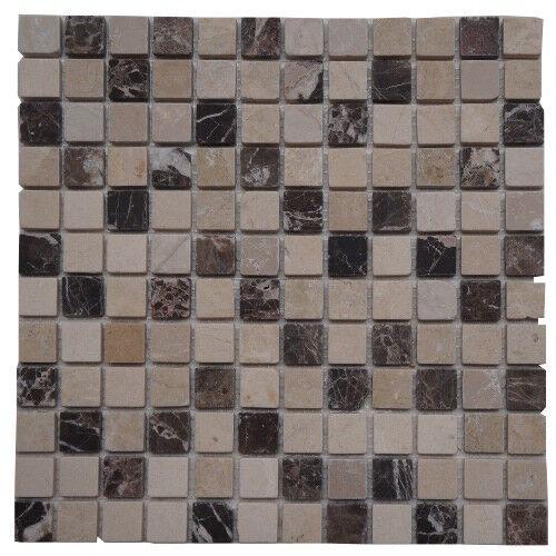 Marmor Mosaik Fliesen Naturstein Matte Braun Beige Mix Crema Boden Wand 528M