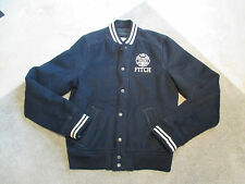 Abercrombie & Fitch Indian Falls Letterman Varsity Jacket Adult Large Black