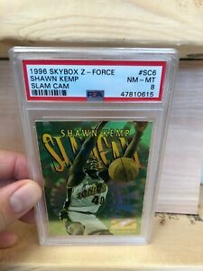 1996-97-Z-Force-Slam-Cam-Shawn-Kemp-PSA-8-ULTRA-RARE