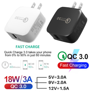 Quick Charge 3 18W Fast QC 3.0 USB Charger USA Adapter For iPhone Android TikTok