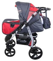 Baby Stroller Combination 3in1 - Cradle-stroller-car Seat Wheels Steering