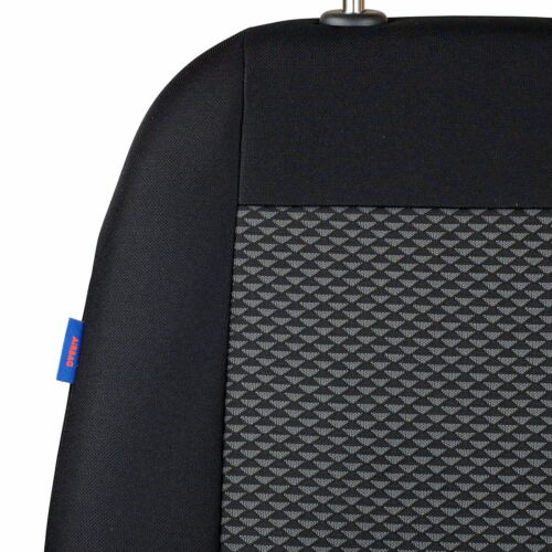 Negro-gris triángulos fundas para asientos para Toyota Starlet asiento del coche delante de referencia