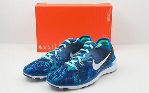 ba498607900a5 New Nike Size 6.0 Free 5.0 TR Fit 5 Print Soar Blue Green 704695-403 ...