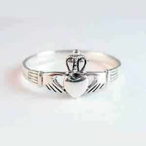 Claddagh-Silver-Ring-Size-8-Sterling-925-Celtic-Irish-Wedding-Friendship-Jewelry