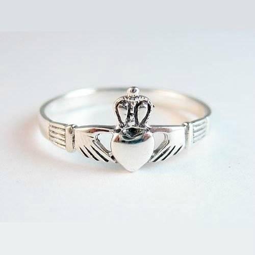 Claddagh Silver Ring Size 8 Sterling 925 Celtic Irish Wedding Friendship Jewelry