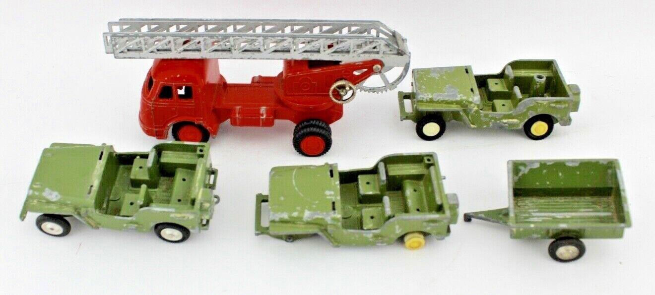 Partidas 4 unidades gama Juguetes modelo coches de bomberos 710 904-5-6 jeep militar