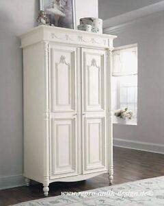 Kleiderschrank weiß barock  Barock Kleiderschrank Massivholz Antik Garderobe Flur Diele ...