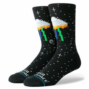 Stance-034-I-Need-Some-Space-034-Classic-Crew-Socks-BK-Men-039-s-Alien-Graphic-Sock
