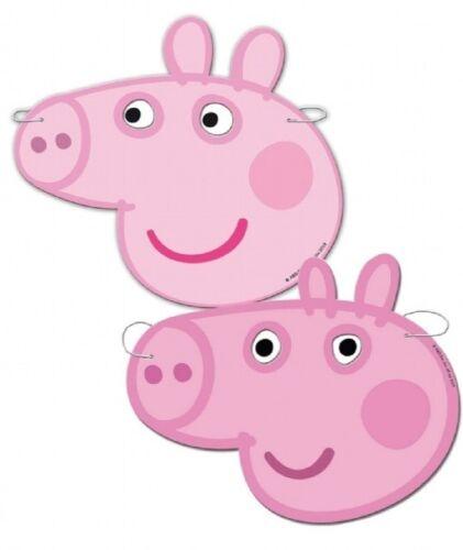 X 6 PEPPA PIG DRESS UP CARD MASKS FANCY DRESS PARTY BAG FILLERS FACE MASK