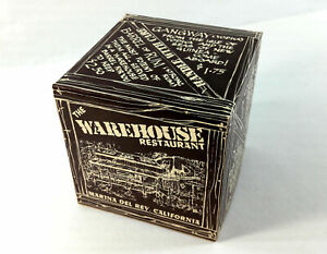 Vintage Box Drinks Menu THE WAREHOUSE Restaurant Marina Del Rey California