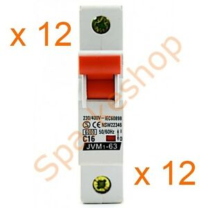 12-x-Miniature-Circuit-Breaker-1-Pole-16A-6kA-MCB-Aust-Approved-Free-postage