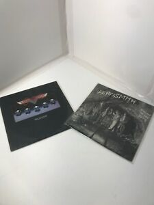 Lot-Of-2-Aerosmith-Night-In-The-Ruts-Rocks-RARE-vinyl-LP-record
