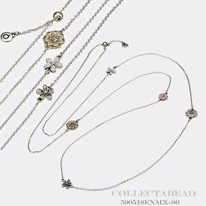 b73e8a9959ede Details about Authentic Pandora Sterling Silver Enamel Poetic Blooms  Necklace 590518ENMX-80