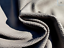 thumbnail 1 - lambskin leather hide skin Extra Large Smoke Grey Baby Dragon Scale Embossed