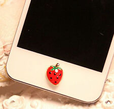 Home Button Sticker For iPhone 7plus 7 6SPlus 6S 6 6plus 5 5S 5C 4 4S Strawberry