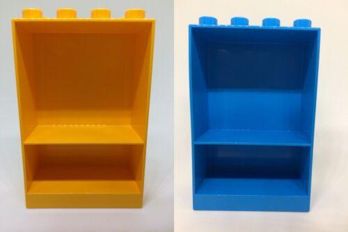 LEGO Bausteine & Bauzubehör LEGO DUPLO 10505 10535 10546 Familienhaus Supermarkt 2 Regale gelb LEGO Bau- & Konstruktionsspielzeug blau NEU