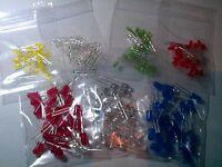 LED - 3mm / 5mm - 50 Pack - Red, White, Blue, Orange, Green + More - UK Free P&P