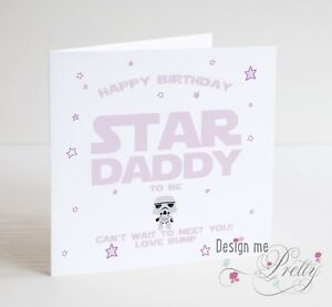 Star wars daddy to be birthday card new dad pregnant baby birth image is loading star wars daddy to be birthday card new bookmarktalkfo Choice Image