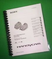 Laser Printed Sony Handycam Sx43 Sx44 Sx63 Manual User Guide 98 Pages