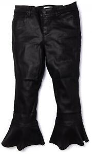 LANE-BRYANT-Black-Coated-Super-Stretch-Bell-Bottom-Flare-Jeans