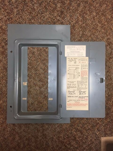 fpe federal pacific cat no 1008 44 100a fuse panel deadfront cover rh ebay com Old Fuse Box Fuse Box vs Breaker Box