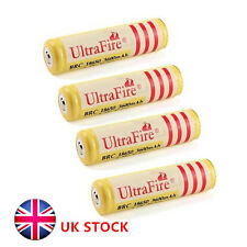 UK SELL 4x18650 3600mAh 3.7V Rechargeable Li-ion Battery for Flashlight torch