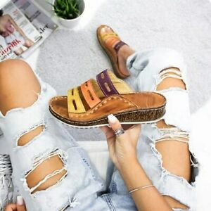 NEW-Women-Three-color-stitching-Sandals-OPEN-TOE-WOMEN-SANDALS-SUMMER