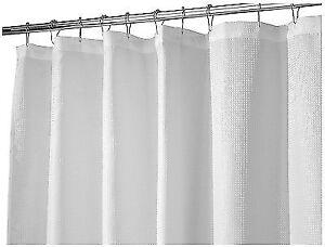InterDesign Fabric Shower Curtain 72 X 84 Inch White Waffle Shippi