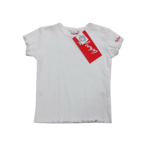 Whoopi Shirt T-Shirt kurzarm weiß Baumwolle Baby Rundhals Mädchen Gr.74,80,86