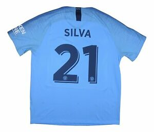 Manchester-City-2018-19-Authentic-Home-Shirt-SILVA-21-XL-soccer-jersey