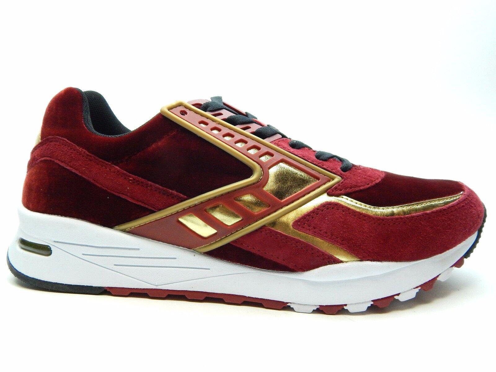 BROOKS para hombre REGENT Rojo Dahlia oro Cromo hombres zapatos talla 12