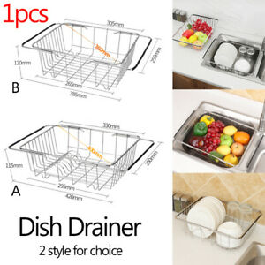 Sink-Kitchen-Drainer-Folding-Dish-Drainer-Drying-Rack-of-Stainless-Steel