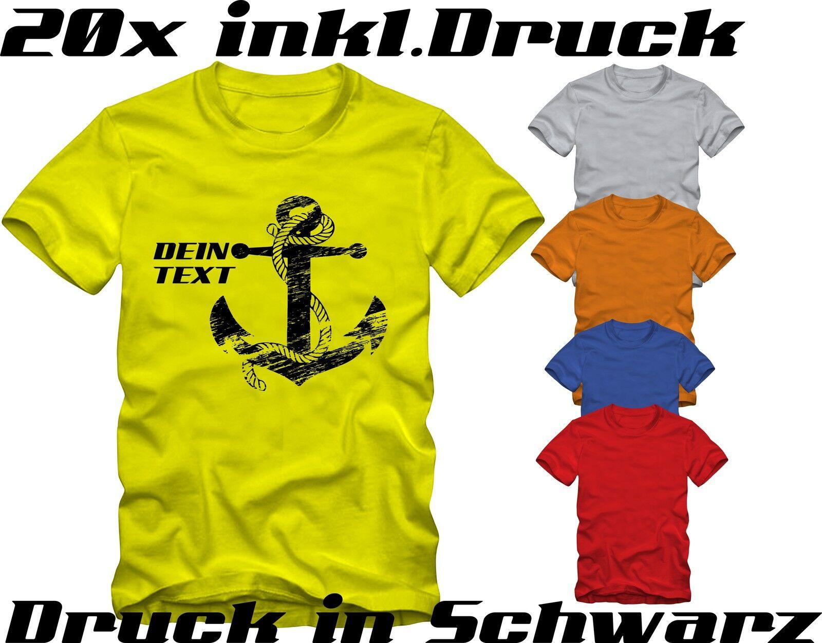 20 T-Shirts bedrucken lassen Textildirektdruck.
