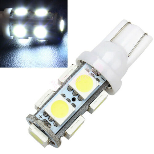 2Pcs  White T10 9 SMD 5050 194 2825 501 Bulb Car LED Wedge Light Plate Licen