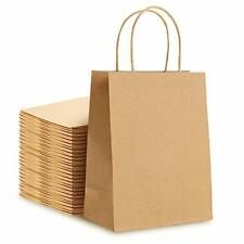 Premium Kraft Paper Bags With Handles Bulk 9x5x115 30pcs Ideal Brown