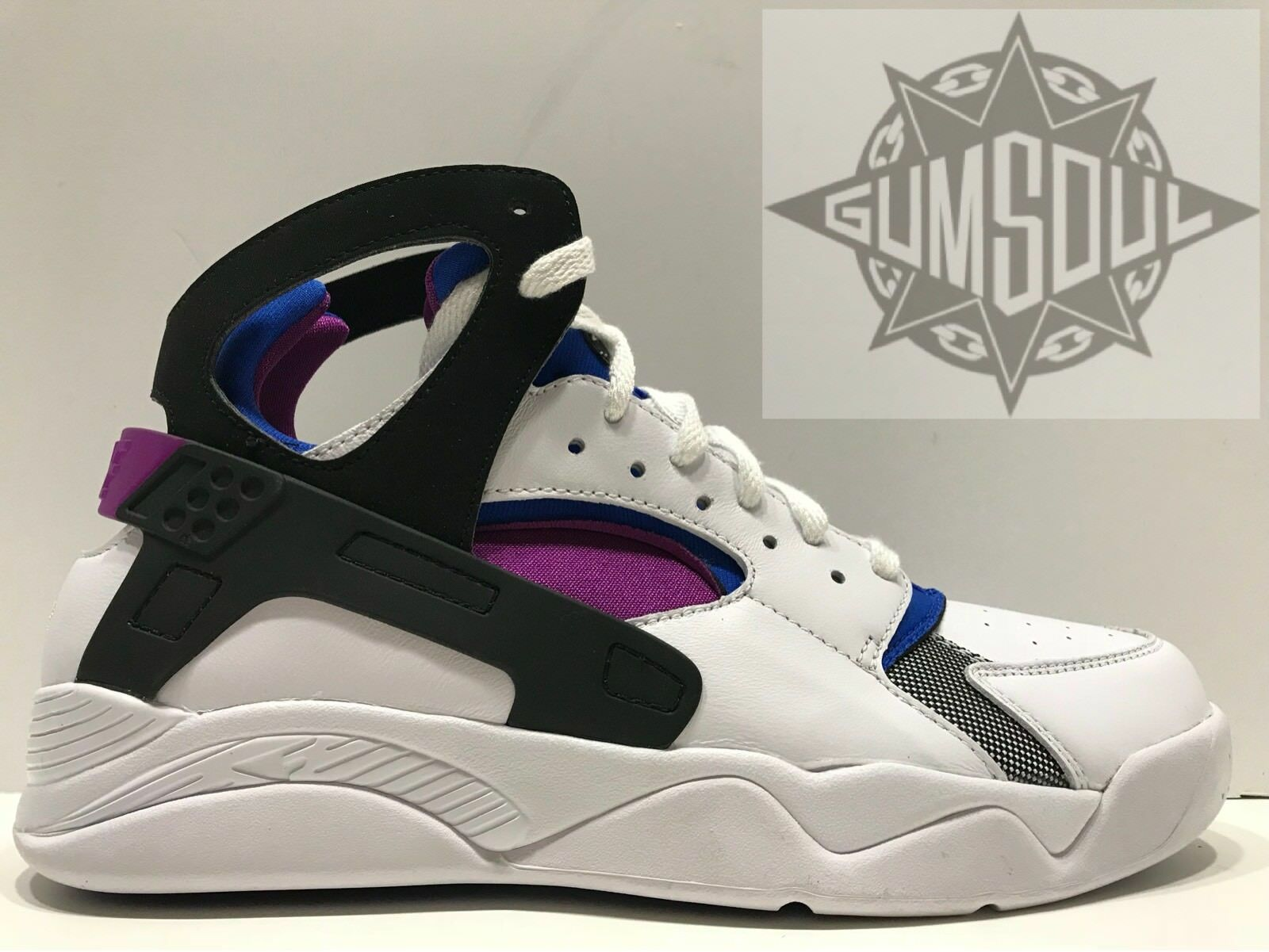 NIKE AIR FLIGHT HUARACHE PRM QS FAB 5 MICHIGAN WHITE BERRY 686203 100 sz 9