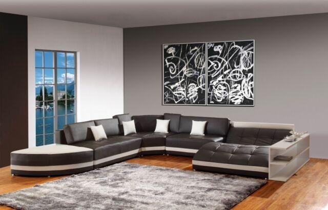 Modern Bonded Leather Sectional Sofa, Living Room Set  5012B