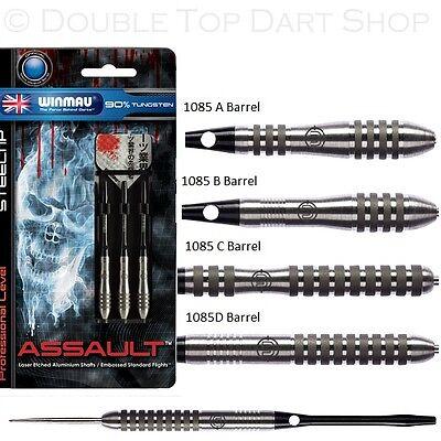 Winmau Assault 90% Tungsten Steel Tip Darts - Excellent Grip and Control