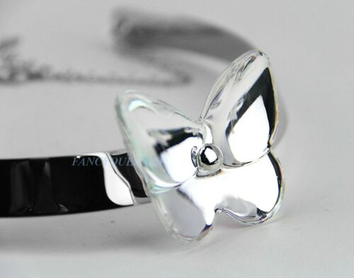 BACCARAT JEWELRY PAPILLON CLEAR MIRROR FLEXIBLE NECKLACE NEW FRANCE