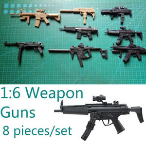 8PCS-SET-1-6-Uzi-MP5-Submachine-Guns-Set-Weapon-for-Solider-Action-Figures-1-6