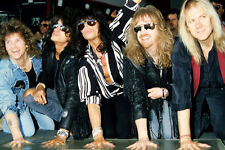 Aerosmith 11x17 Mini Poster All Band Putting Hands In Cement At Rockwalk