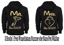 Mr Mrs Hoodie Pullover 2 Stück Partner Look Pärchen Sweatshirt Couple XS - 5XL