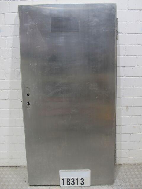 Edelstahltür Stahltür Metalltür Tür für Metzgerei DIN links 105,5x206,5cm #18313