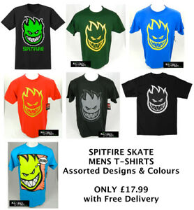 SPITFIRE-SKATE-MENS-T-SHIRTS-Various-Designs