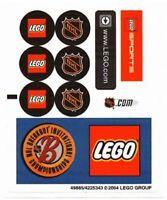 Lego Sports Street Hockey Nhl Logo Sticker Sheet Replacement For Set 3579
