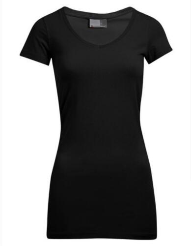 Women´s Slim Fit V-Neck Damen T-Shirt LongPromodoro