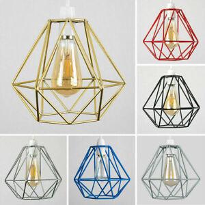 Diseno-Geometrico-De-Alambre-Colgante-Tonos-Easy-Fit-Retro-Iluminacion-LED-Bombillas-De-Luz